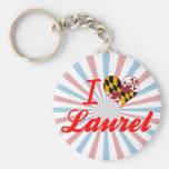 Amo el laurel, Maryland Llaveros