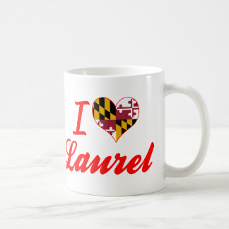 Amo el laurel, Maryland Taza Clásica
