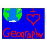 amo el lazo de la geografía tarjetas