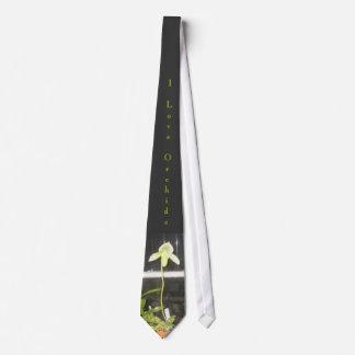 Amo el lazo de las orquídeas corbata personalizada