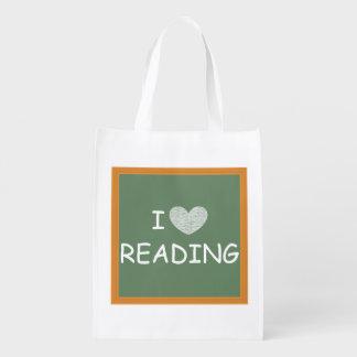 Amo el leer bolsas de la compra