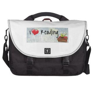 Amo el leer bolsas de portatil