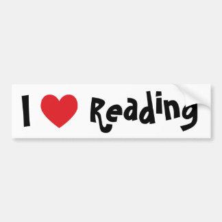 Amo el leer etiqueta de parachoque