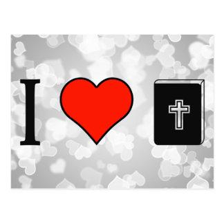 Amo el leer de la biblia postales