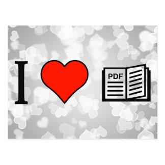 Amo el leer de los folletos del pdf postales