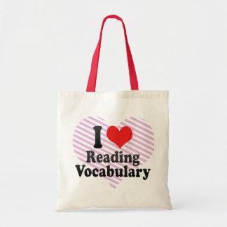 Amo el leer de vocabulario bolsa
