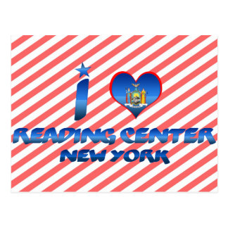 Amo el leer del centro, Nueva York Tarjeta Postal