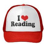 Amo el leer gorro