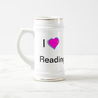 ¡Amo el leer! Stein Jarra De Cerveza