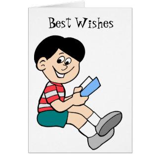 Amo el leer tarjeta de felicitación