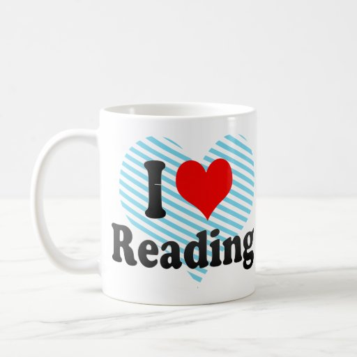 Amo el leer taza básica blanca