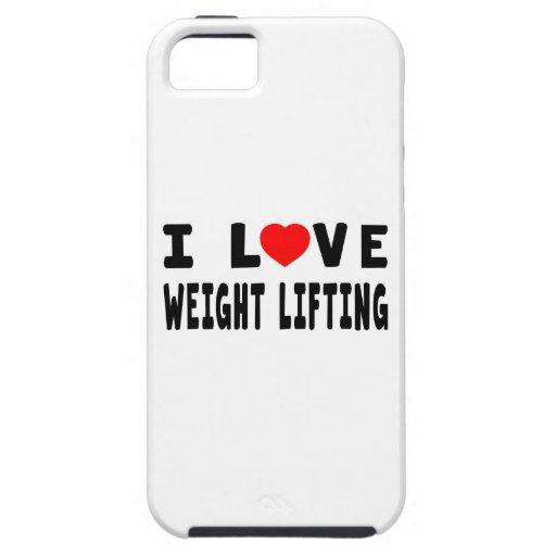 Amo el levantamiento de pesas iPhone 5 Case-Mate carcasas