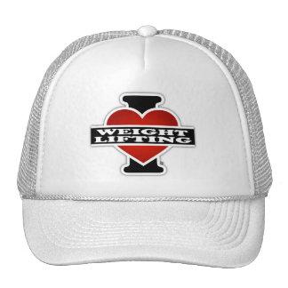 Amo el levantamiento de pesas gorras