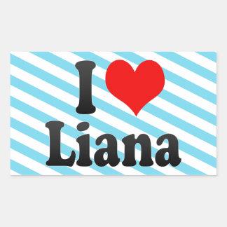 Amo el Liana Pegatina Rectangular