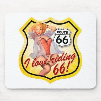 Amo el librar del Pin de la ruta 66 encima del chi Mousepad