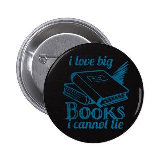 Amo el libro grande no puedo mentir pizarra azul pins