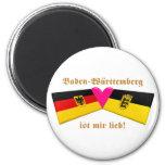 Amo el lieb de los ist MIR de Baden-wurttemberg Imán Redondo 5 Cm