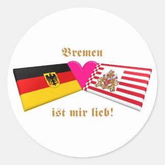 Amo el lieb de los ist MIR de Bremen Etiquetas Redondas