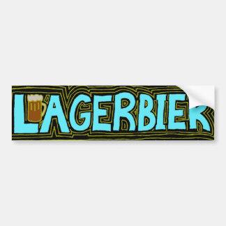Amo el liebe Lagern de las cervezas doradas/de Ich Pegatina Para Auto