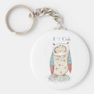 Amo el llavero Owling de los búhos