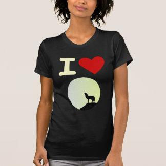 Amo el lobo camisas