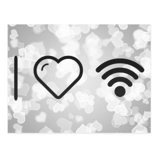 Amo el logotipo de Wifi Tarjetas Postales