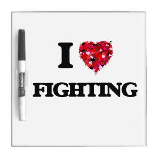 Amo el luchar pizarras blancas
