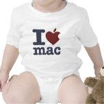 Amo el mac trajes de bebé