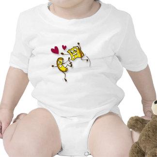 Amo el mac y el queso trajes de bebé