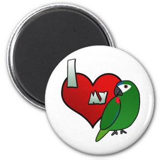 Amo el Macaw de mi Hahn Imán Redondo 5 Cm