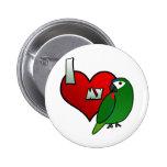 Amo el Macaw de mi Hahn Pin Redondo 5 Cm