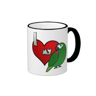 Amo el Macaw de mi Hahn Taza De Dos Colores