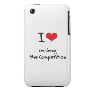 Amo el machacar de la competencia iPhone 3 Case-Mate cárcasas