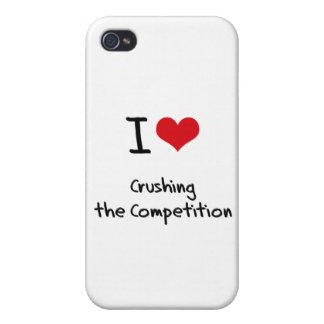 Amo el machacar de la competencia iPhone 4 carcasa