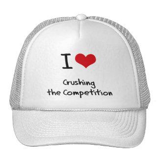 Amo el machacar de la competencia gorras de camionero