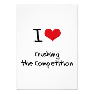 Amo el machacar de la competencia invitación personalizada