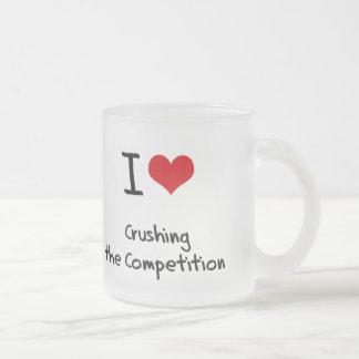 Amo el machacar de la competencia taza