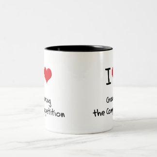 Amo el machacar de la competencia taza de café
