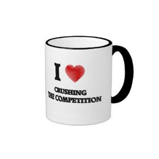 Amo el machacar de la competencia taza de dos colores