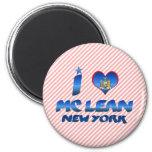 Amo el magro de Mc, Nueva York Imanes De Nevera