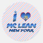 Amo el magro de Mc, Nueva York Pegatina Redonda