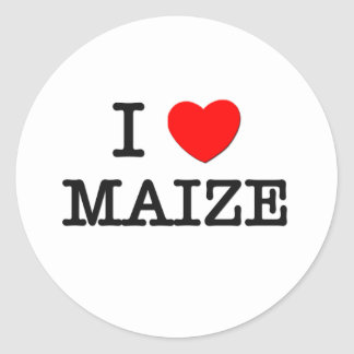 Amo el MAÍZ (la comida) Etiqueta Redonda