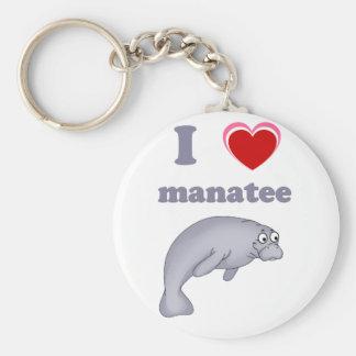 Amo el manatee llavero redondo tipo pin