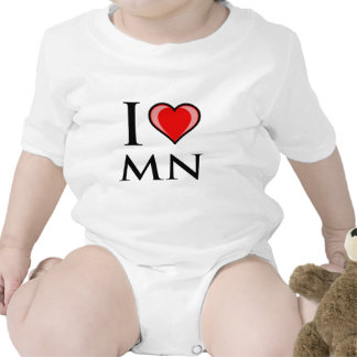 Amo el manganeso - Minnesota Trajes De Bebé