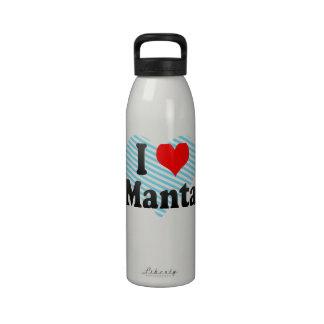 Amo el Manta Ecuador Botellas De Agua Reutilizables