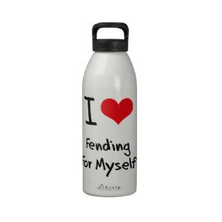 Amo el mantenerme para mí mismo botellas de beber