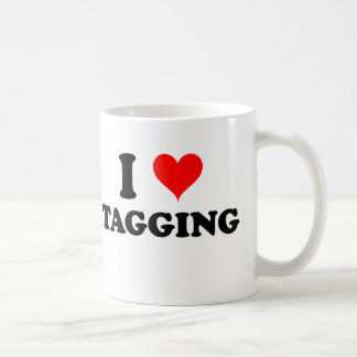 Amo el marcar con etiqueta taza de café