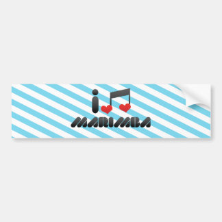 Amo el Marimba Etiqueta De Parachoque