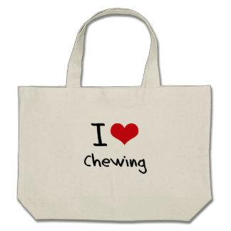 Amo el masticar bolsa de mano