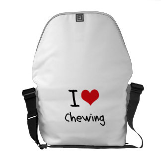 Amo el masticar bolsas messenger